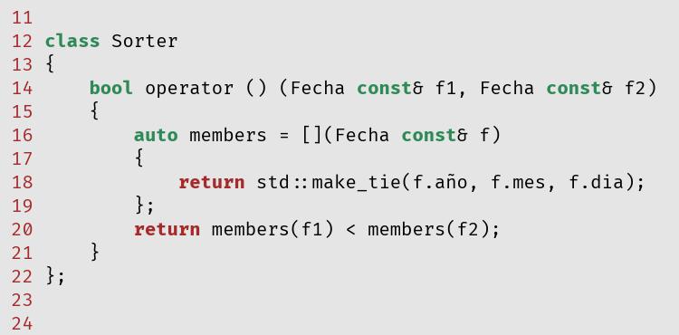 Código fuente en C++