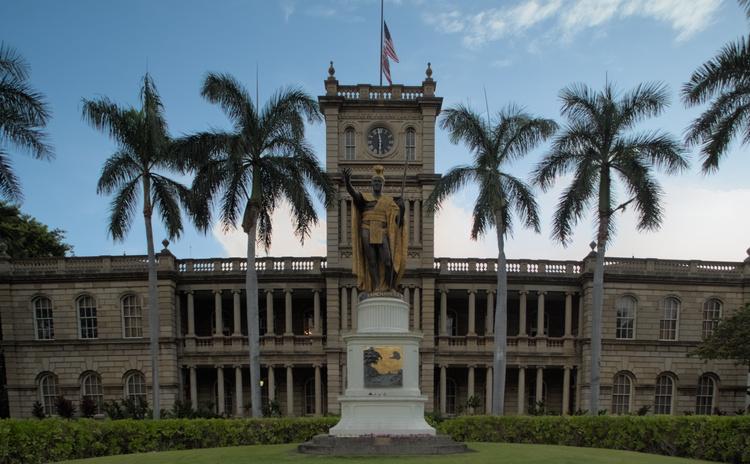 King Kamehameha statue.