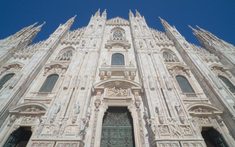 Fachada de la Catedral de Milán.