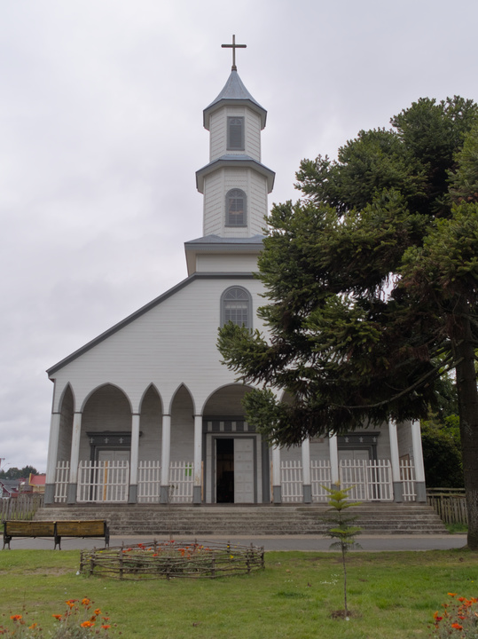 Most of the churches in Chiloé are made of wood.