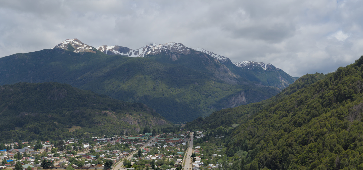 Panoramic view of Futaleufú.