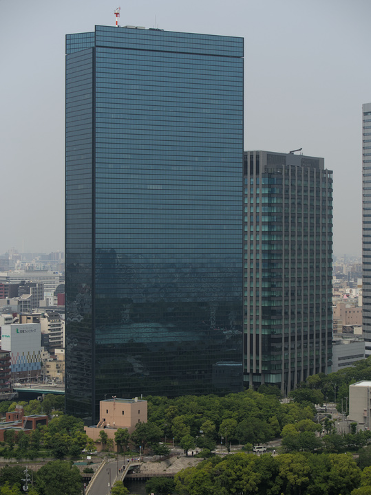 Crystal Tower, seen from Ōsaka Castle.