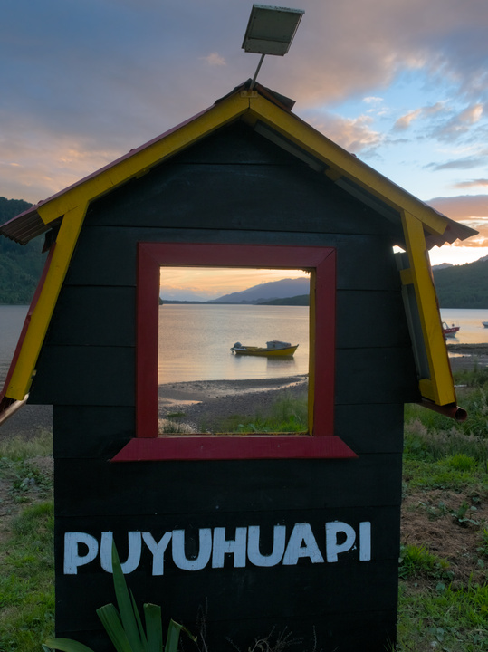 This is a typical photo of Puyuhuap.
