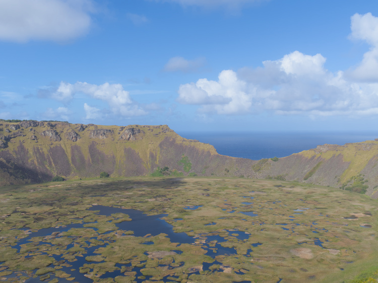 Rano Kau's crater hosts an entire ecosystem.